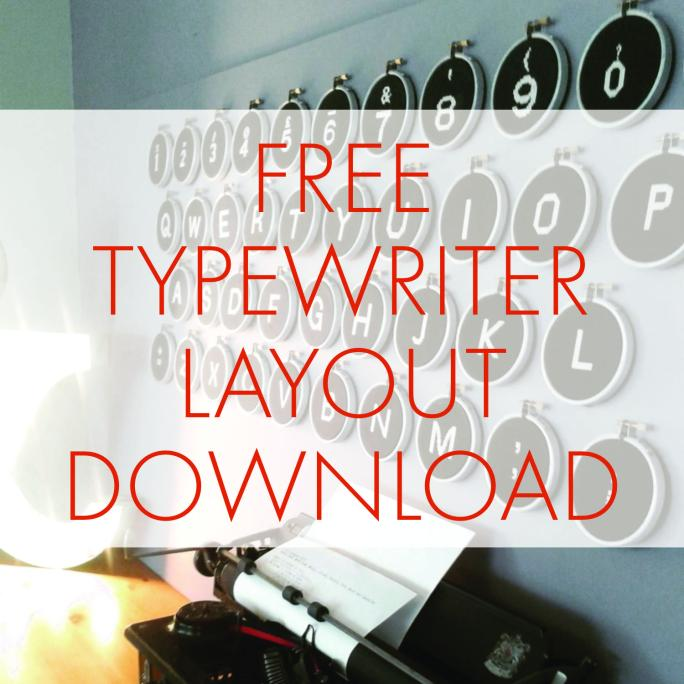 Free Typewriter Layout Download | STITCHFINITY