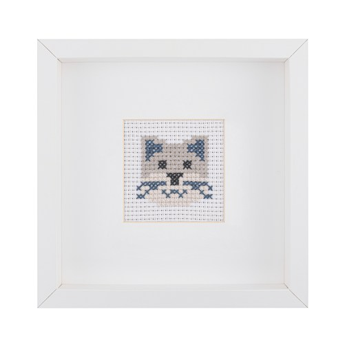 Kids Cat Cross Stitch Kit | STITCHFINITY