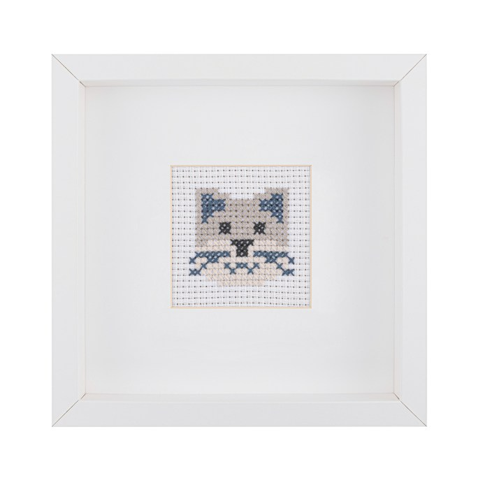 Kids Cat Cross Stitch Kit | STITCHFINITY