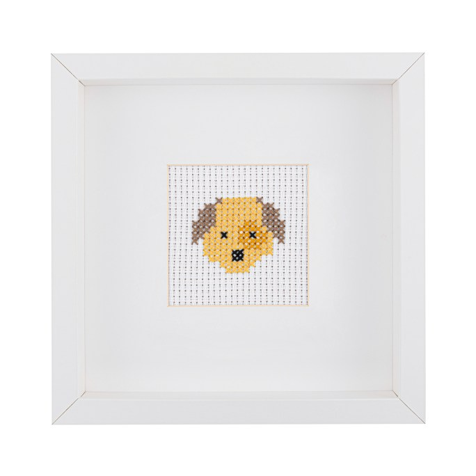 Kids Dog Cross Stitch Kit | STITCHFINITY