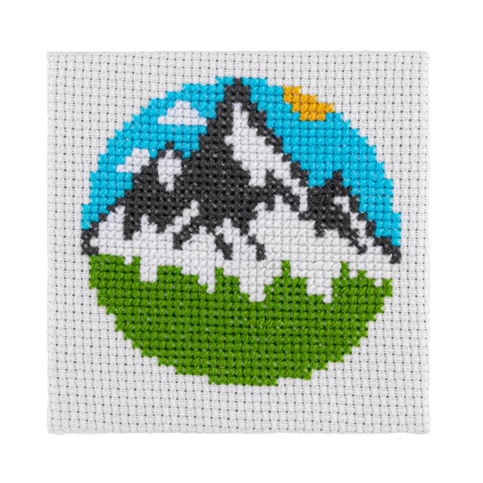 Mini Mountains Cross Stitch Kit | STITCHFINITY