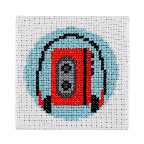 Mini Walkman Cross Stitch Kit | STITCHFINITY