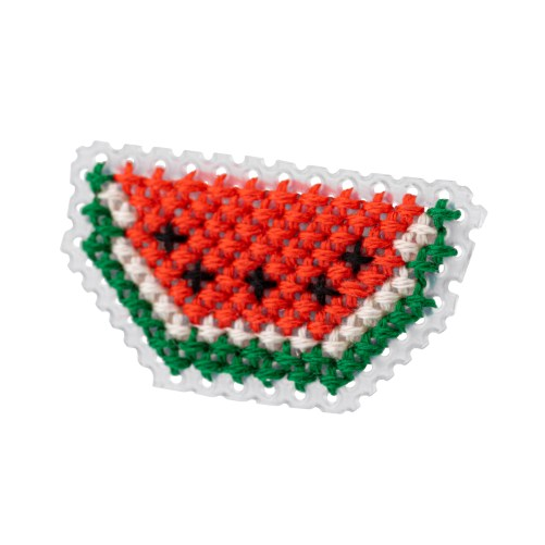Watermelon Brooch Cross Stitch Kit | STITCHFINITY