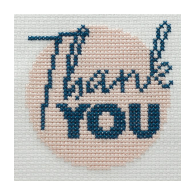 Mini Thank You Cross Stitch Kit | STITCHFINITY