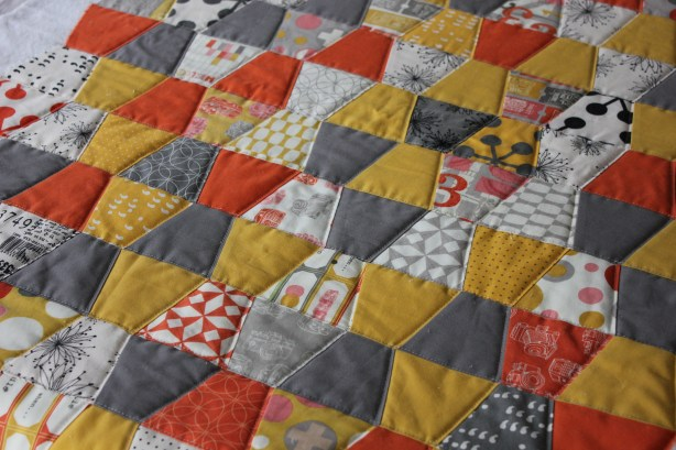 Tumbler Quilt in Autumn Colors