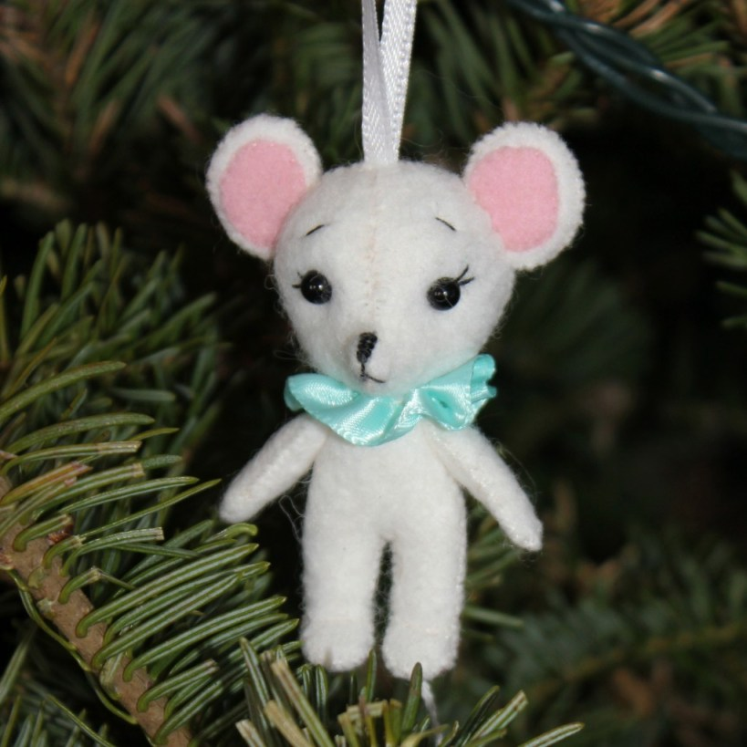 Hand-sewn felt ornament, by stitchified