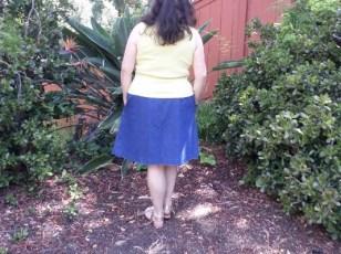 Denim Skirt Back