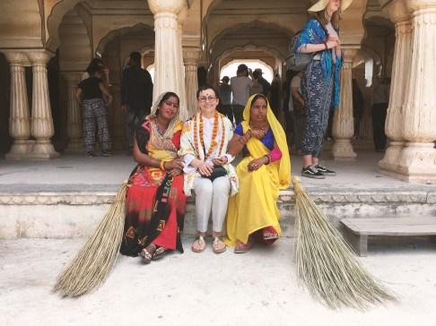 indické ženy a já, Amber Fort, Jaipur