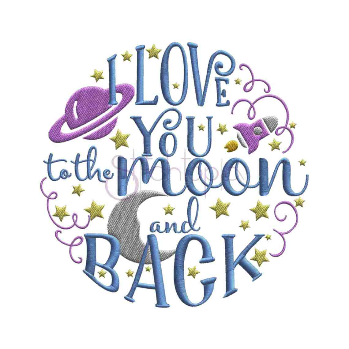 Download I love you to the moon and back embroidery design ...