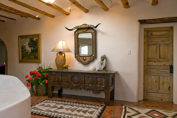 Classic Santa Fe Interior Design   Stivers   Smith Interiors Classic Santa Fe Entrance Design