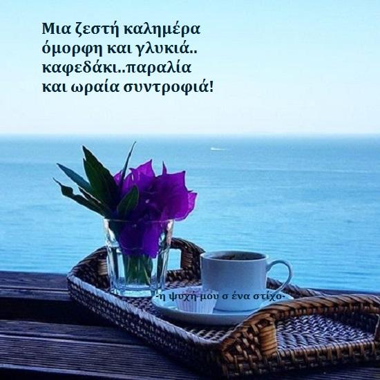Read more about the article Μια ζεστή καλημέρα όμορφη και γλυκιά.. καφεδάκι..παραλία και ωραία συντροφιά!