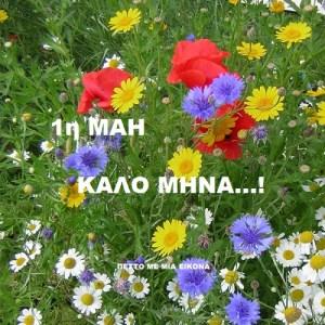 Καλώς ήρθες Μάη με τις ομορφιές σου!!! Καλημέρα σε όλους!