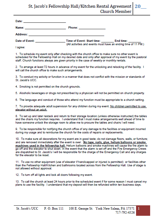 Rental Agreement Sample