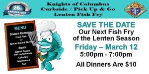 Knights Of Columbus Annual Lenten Fish Fry