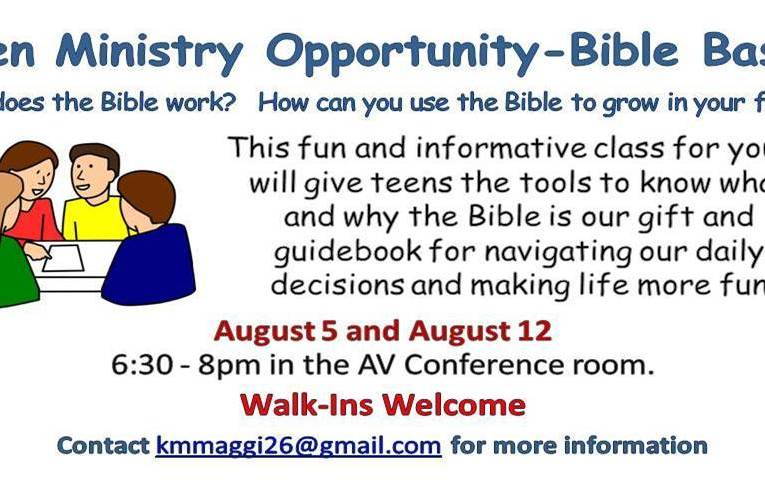 Teen Ministry – Bible Basics