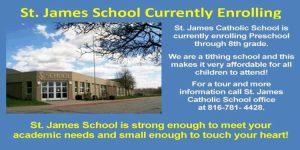 St. James School Now Enrolling