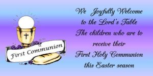 Pray for the Children Receiving First Communion