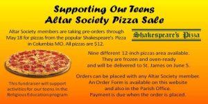 Altar Society Pizza Sale