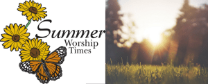 Sunday Service Schedule Begins June 11