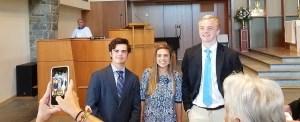 Jameson, Julianna and Alex, St. James' Newest Confirmands