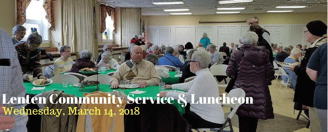 Lenten Community Service & Luncheon