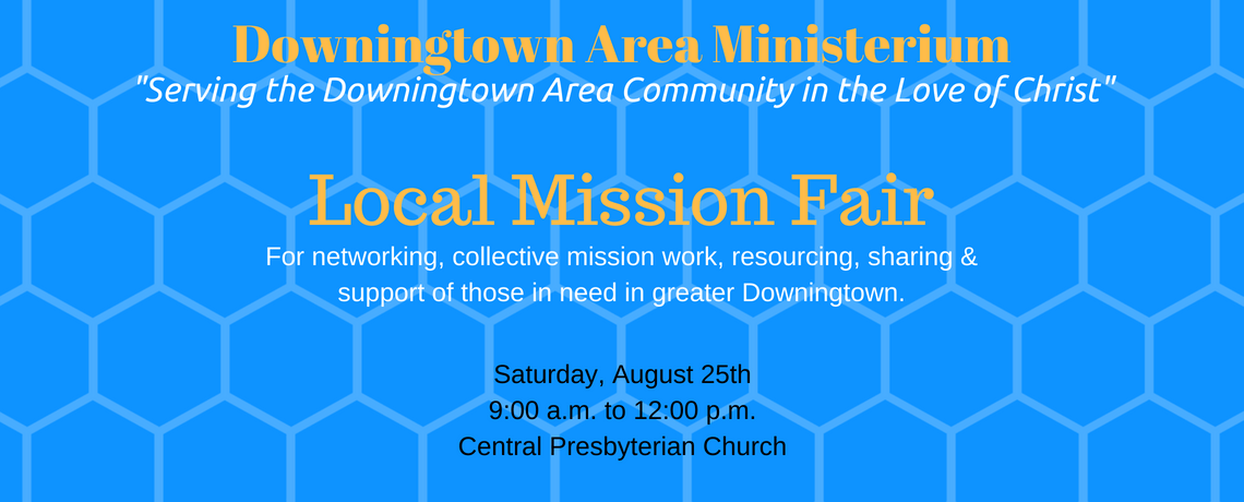 downingtown area ministerium local mission fair flyer