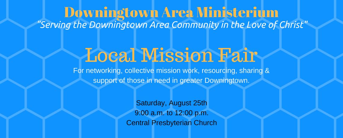 downingtown area ministerium local mission fair flyer
