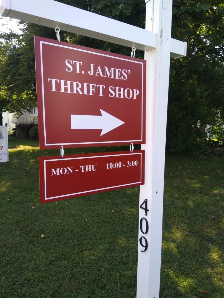 Thrift Shop Summer Hours Sign