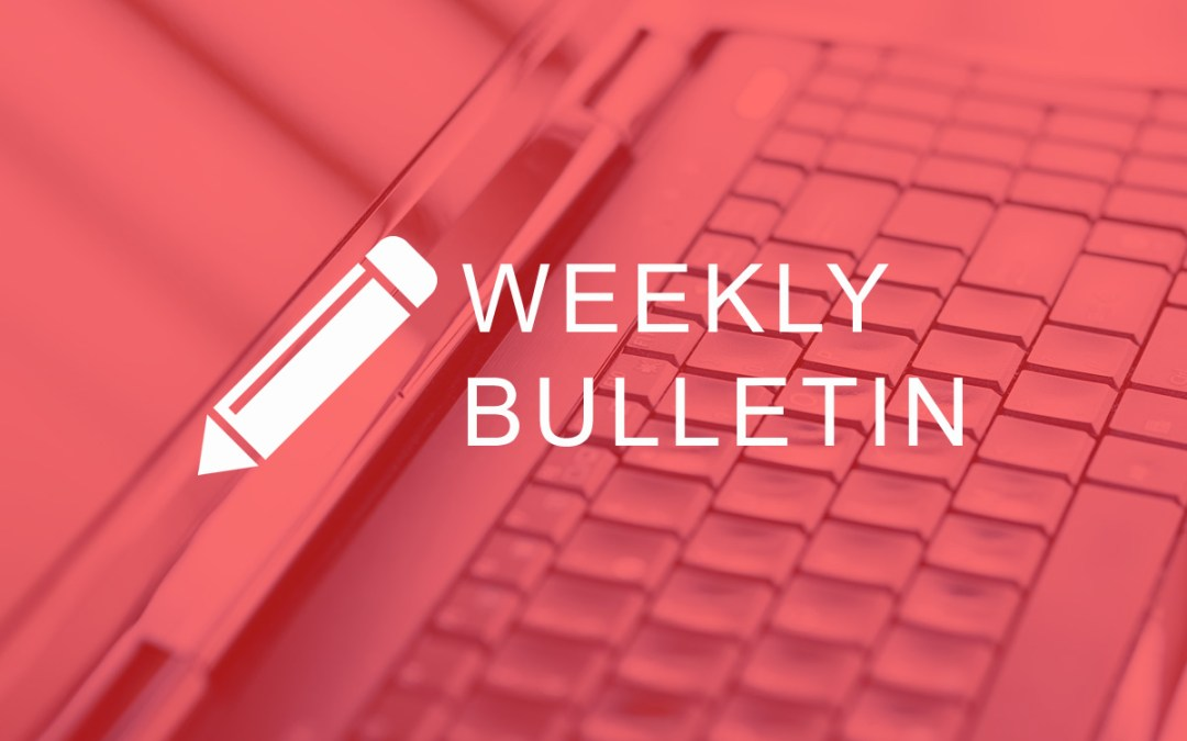 Bulletin for week commencing 2nd August 2020