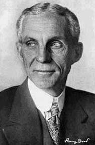 A portrait of Henry Ford.