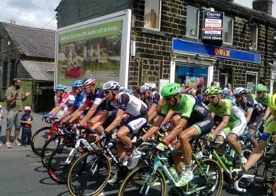 The Tour de France passing the Church