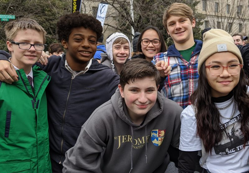 march for life at st. jerome institute washington dc