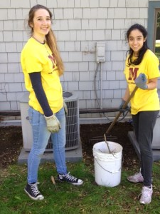 Mercy girls helping our Sisters of Mercy