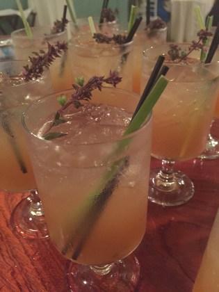 Windy Level Purple Basil & Local Passion Fruit Shrub // Ginger Lemongrass Honey Simple Syrup // Vodka // Club Soda
