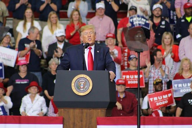Trump campaigning in Louisiana