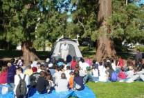 Camp Elmwood, under the trees