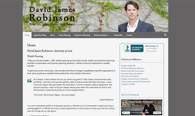 David James Robinson website screenshot