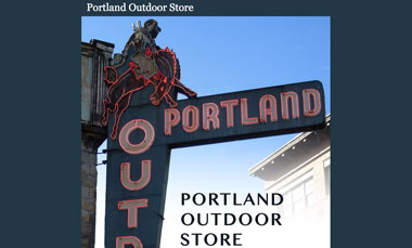 Portland Outdoor Store website screenshot
