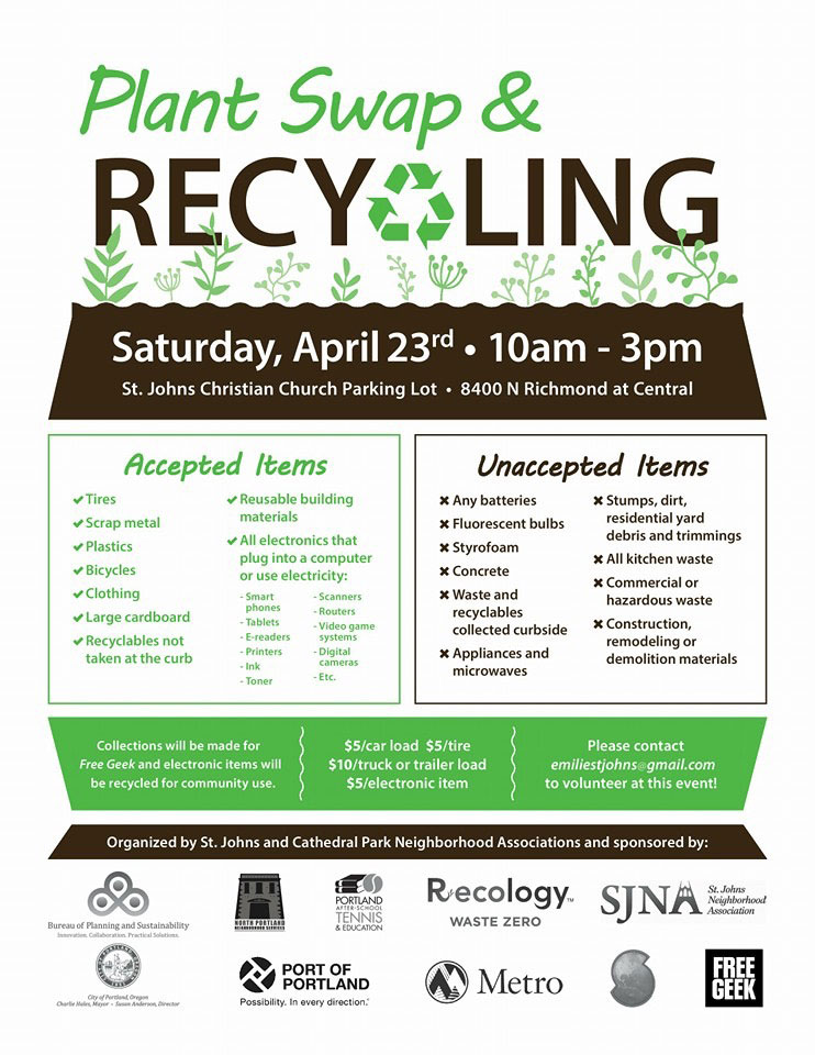 Poster for Plant Swap & Recycling event