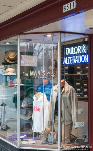 Entrance to The Man's Shop