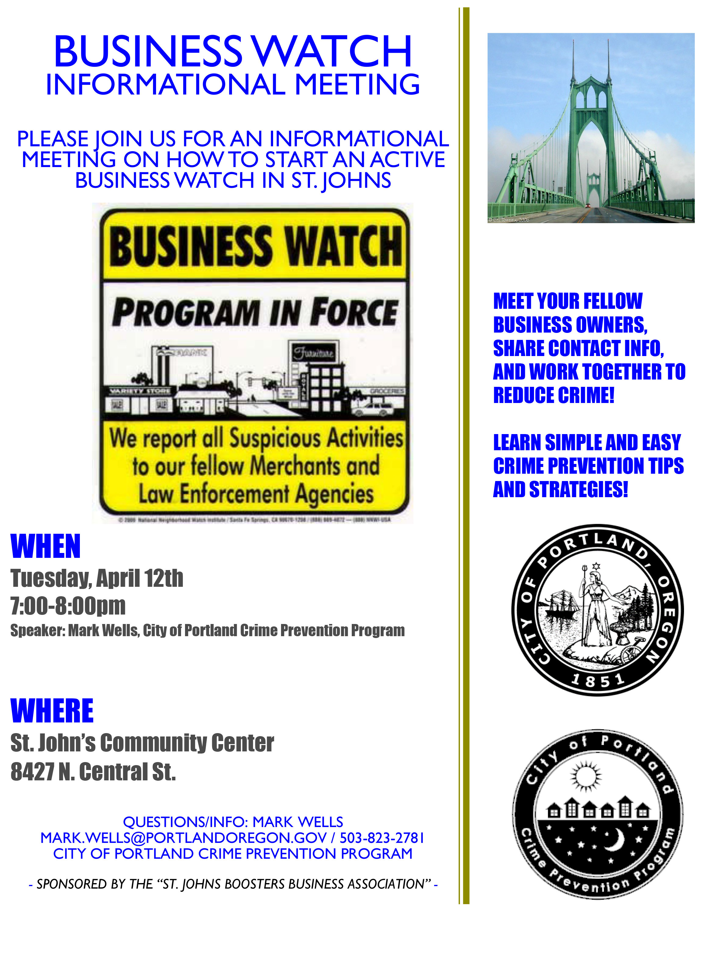 Business Watch informational meeting