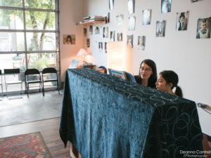 Cristina Marino with a piano student