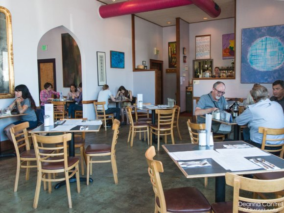 The main indoor dining room at the John Street Cafe.