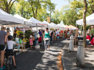 Shoppers at the St. Johns Farmers Market