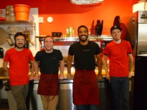 Staff of Pizza Nostra St. Johns