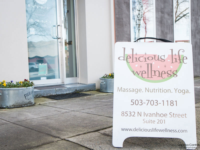 Exterior and sign for Delicious Life Wellness
