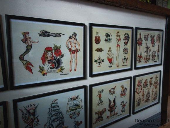 Lombard Street Tattoo and sample tatts