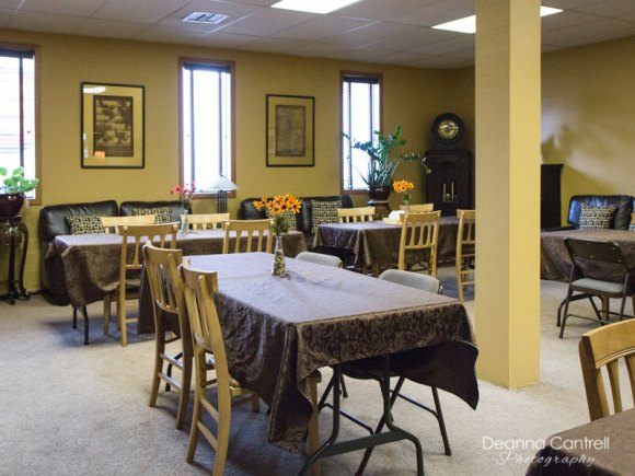 Dining and reception area at Hustad Funeral Home
