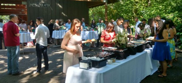Wedding catered by Big Kahuna's BBQ