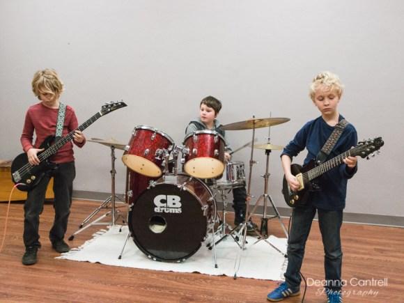 Build a Band group performing at Cathedral Park Performing Arts